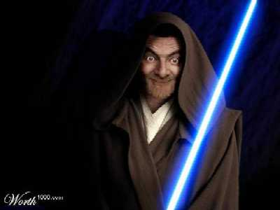 Use the force, Mr. Bean!
