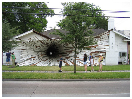 Looks like you got a hole in your siding...