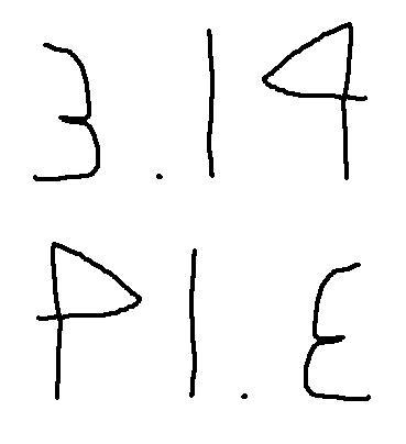 PIE = 3.14 = PIE = ...