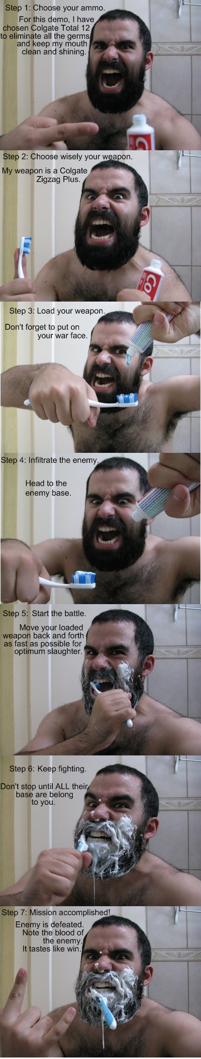 THIS IS TOOTHBRUSHING!