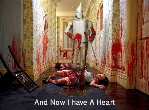Tinman, on and off the wall  Who'll never be together again